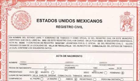 traduzione certificato di nascita